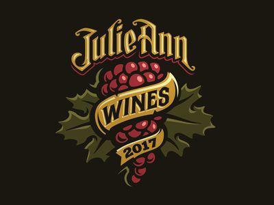 Julie Ann Wines Logo Illustration