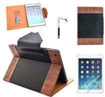 Costyle PU Leather Luxury Magnetic Smart Notebook Case Cover With Credit Card Holder /Mini Photo Showcase For New iPad Air 5 5G 5TH , Support Auto Sleep/Wake+Free 2pcs Screen Protector+Touch Pen Stylus (Black) From Costyle http://astore.amazon.com/tourtravandre-20/detail/B00GUJXROG