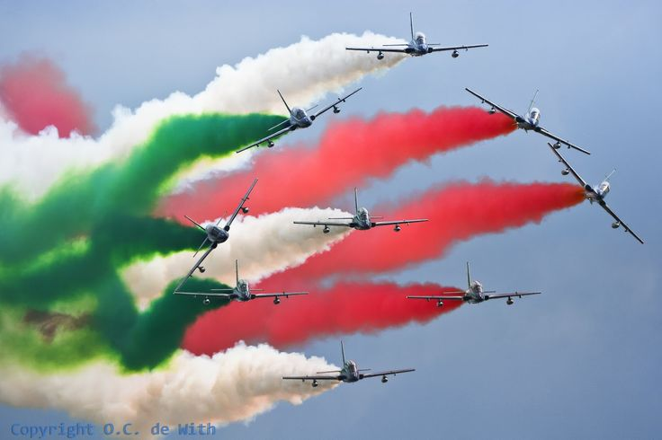 Radom Airshow 2015 , Poland. Frecce Tricolori ....what a colors what a smoke :-))