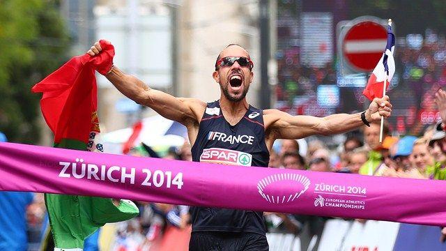 Athlétisme - Championnat d'Europe Zurich 2014  - Yohann Diniz médaille d'or 50 km marche et nouveau recordman du monde.