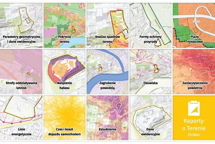 Raporty o Terenie OnGeo.pl - sprawdź informacje o nieruchomości