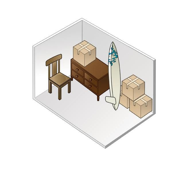 5 X 10 Storage Unit Size EVERETT STORAGE DEPOT - STORAGE SIZE COMPARISON