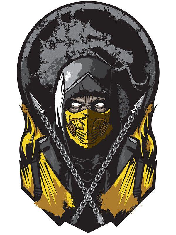 """Scorpion Mortal Kombat"" Stickers by Alienbiker23 | Redbubble @espinsitrino"