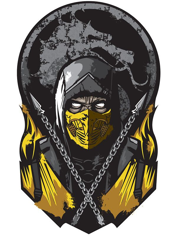 """Scorpion Mortal Kombat"" Stickers by Alienbiker23 