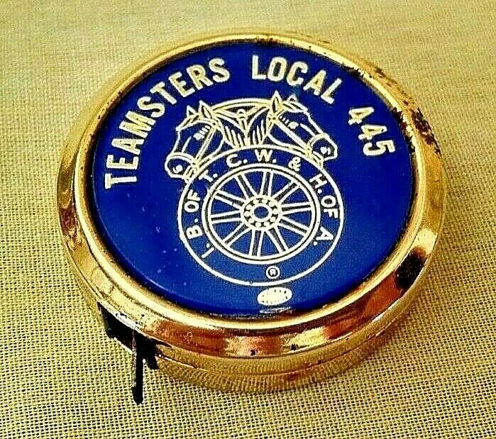TEAMSTERS LOCAL 445 TAPE MEASURE IB OF TCW & H OF A USA 68 1