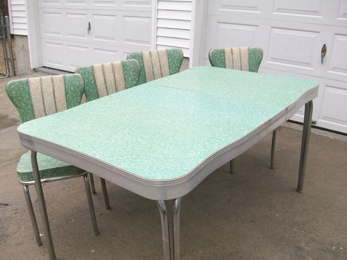1950s retro formica chrome kitchen table and chairs - Chrome Kitchen Table