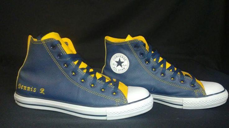 Rare 90's #DennisRodman Men Converse Chuck Taylor All Star Leather Shoes Size 9 #Converse #AthleticSneakers
