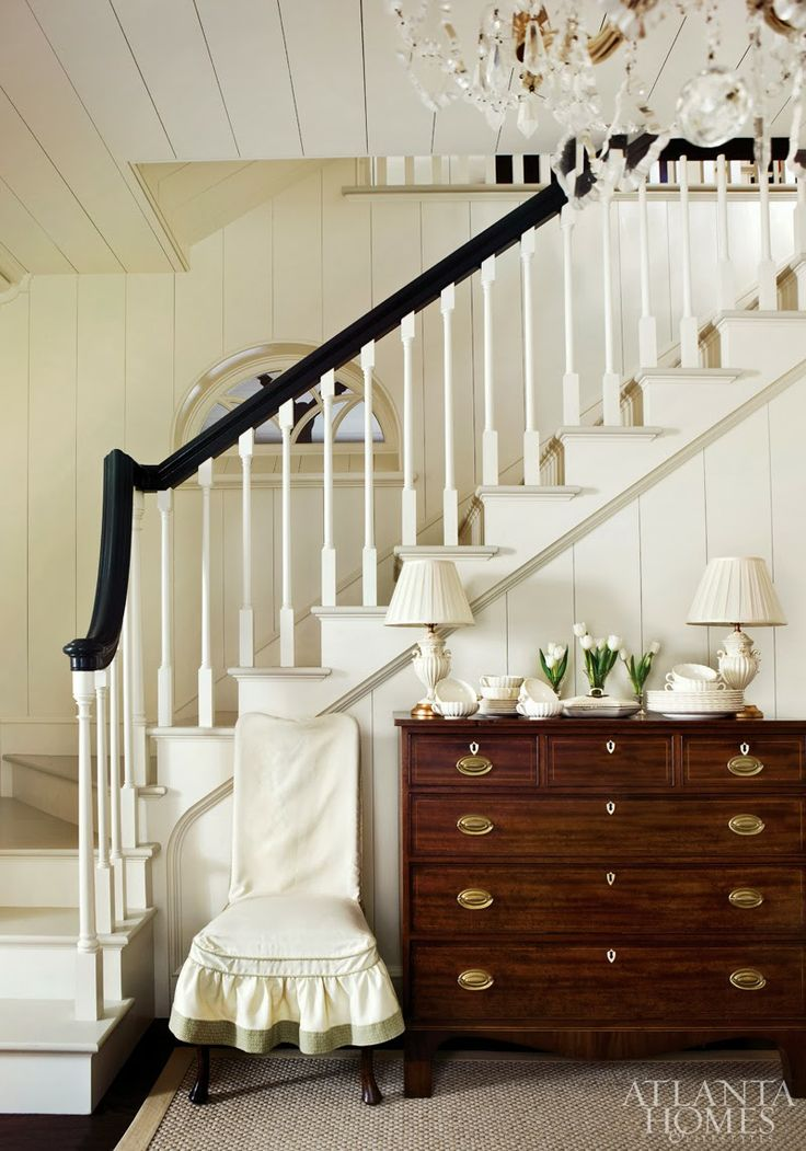 All White With Dark Handrail