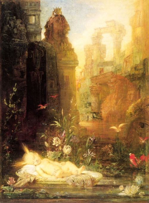 """Gustave Moreau, """"Young Moses"""",19th century."""