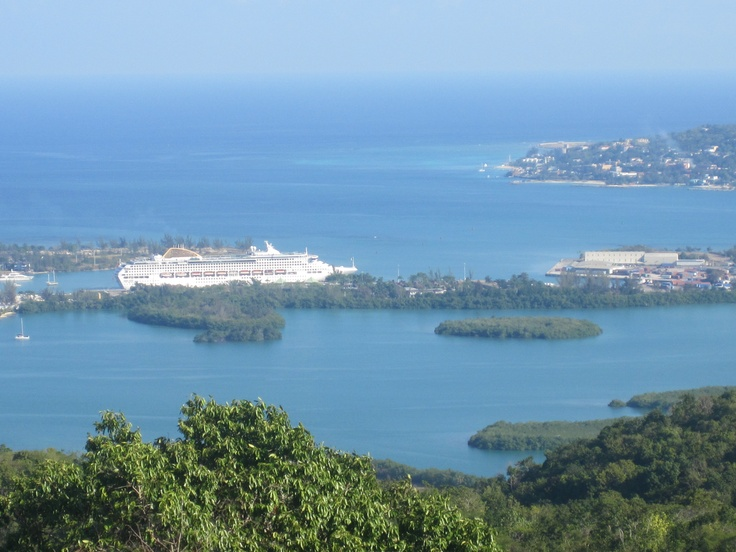 View across #MontegoBay #Jamaica with @P Cruises Oceana sitting in the background. #cruise #travel #caribbean