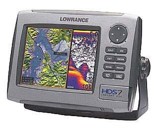 Lowrance HDS-7 Fishfinder / GPS Chartplotter with Lowrance StructureScan LSS-1