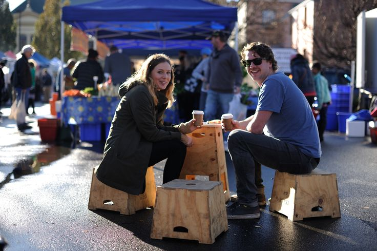 Meet up with friends at Harvest Launceston Farmer's Community Market every Saturday. Photo: Chris Crerar