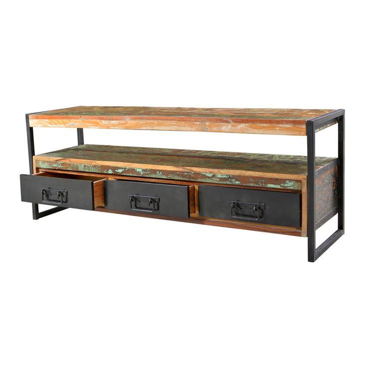 fernsehtisch in bunt shabby chic jetzt bestellen unter. Black Bedroom Furniture Sets. Home Design Ideas