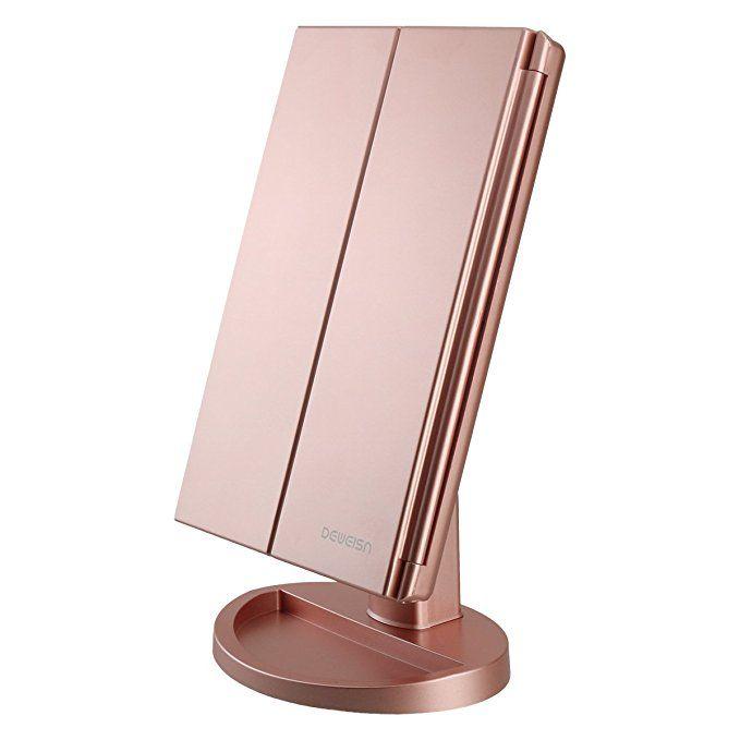 Deweisn Richen Tri Fold Lighted Vanity Makeup Mirror 21 Led