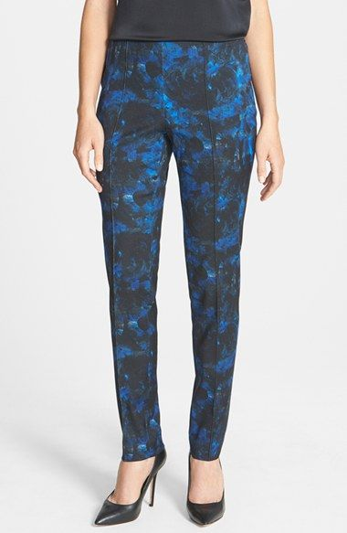 Lafayette 148 New York Pintuck Seam Stretch Wool Skinny Pants available at #Nordstrom