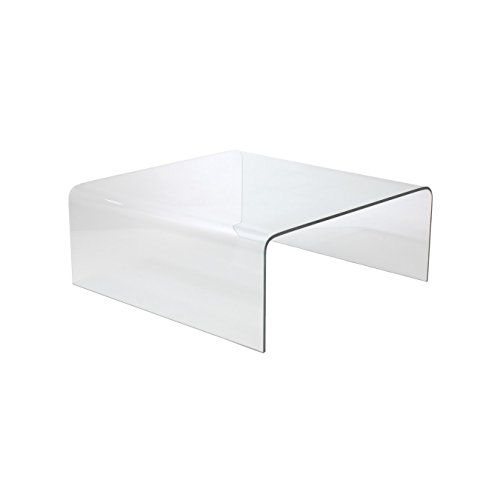 Euro Style Ginny Modern Bent Glass Square Coffee Table Square