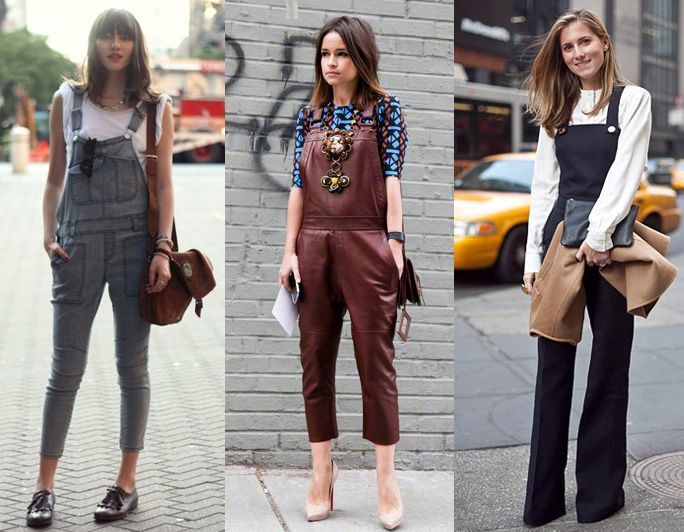 Natural Belle: The OOTD: Dungarees    I love the look of the ones on the right. So vintage looking.