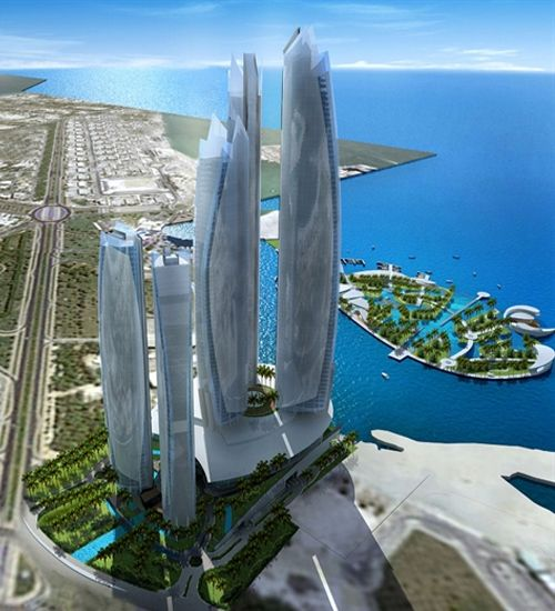 Sky View Of Beach Dhabi – Awesome