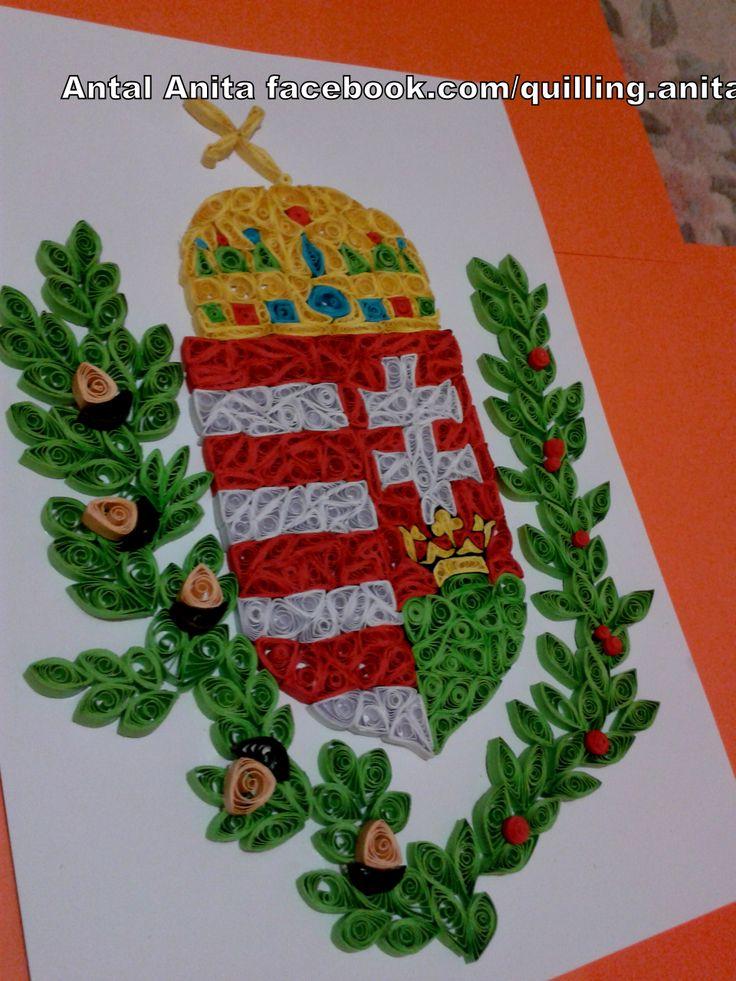 quilling Hungarian coat of arms kvilling magyar címer