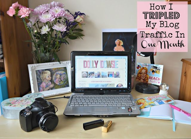 How I Tripled My Blog Traffic In One Month ♥ - dollydowsie.com