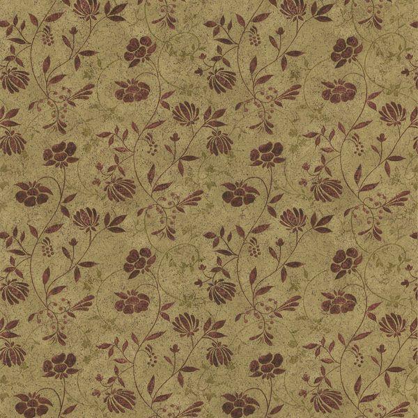 418-44664 Beige Country Jacobean - Tudor - Brewster Wallpaper Bedroom