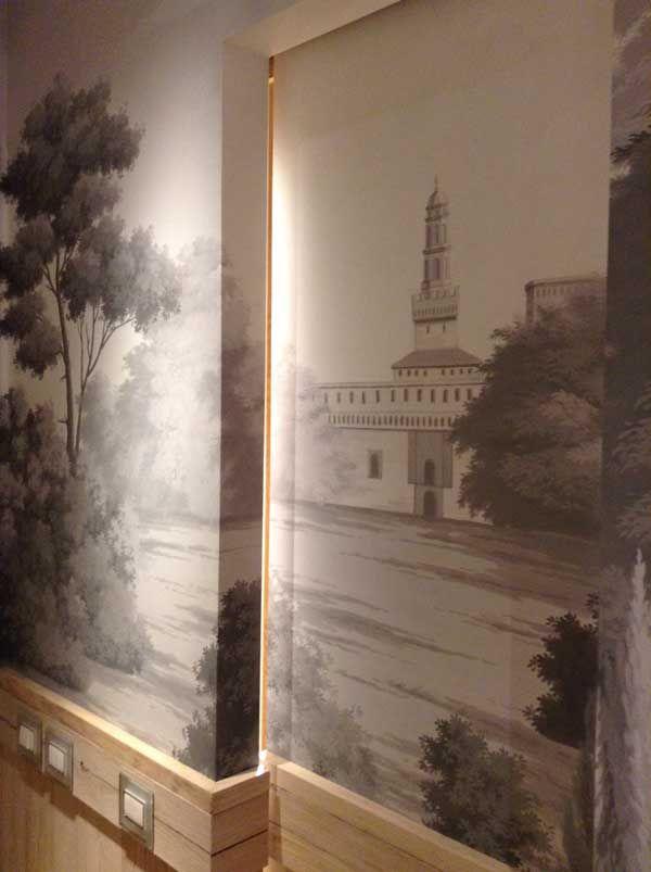 Town House Duomo - Cabina armadio dipinta a mano - Suite della Fontana
