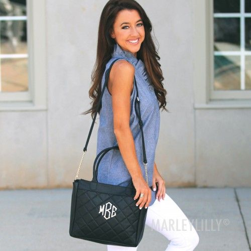 Monogrammed Quilted Purse, Marley Lily $40