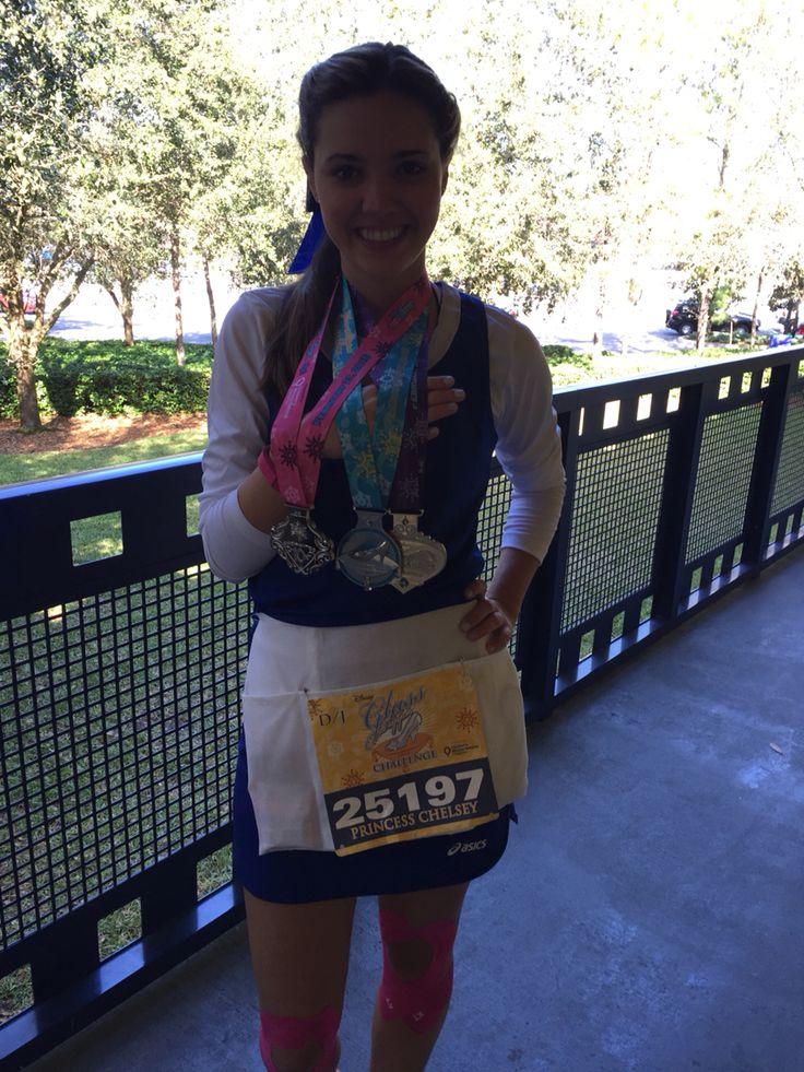 DIY Belle running costume Run Disney Princess Half Marathon