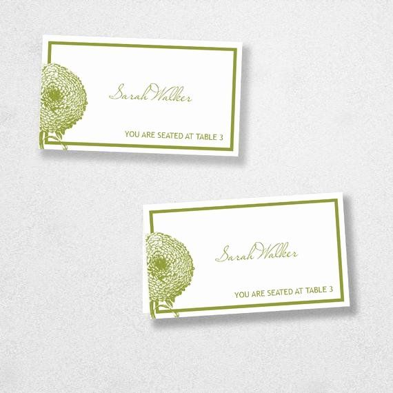 Place Card Template 6 Per Sheet Awesome Avery Place Card Template Instant Download Florel Design Place Card Template Card Template Wedding Place Cards