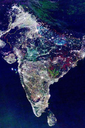 Picture from International Space Station of India's festival Diwali and lighting