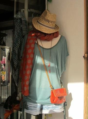 dolman, rolled denim, summer scarf