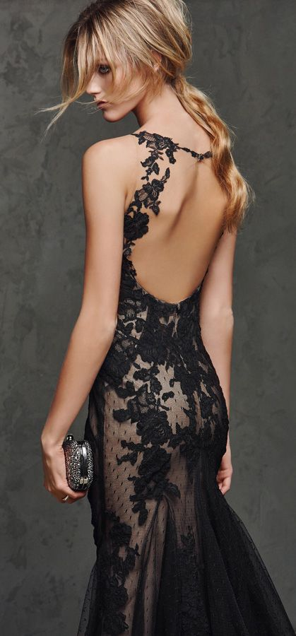 Cocktail & Ceremony Collection Black Lace Dress
