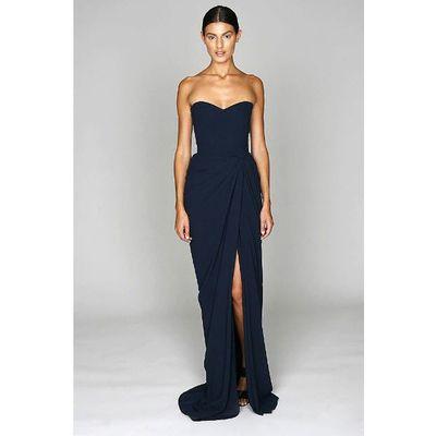 Black mermaid style bridesmaid dresses