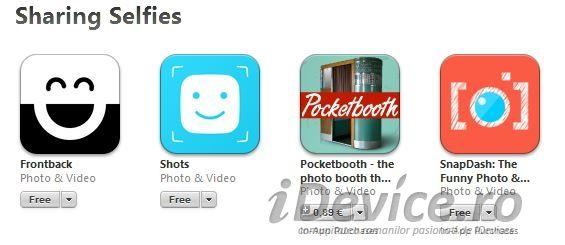 Apple ne recomanda cele mai bune aplicatii pentru selfie-uri