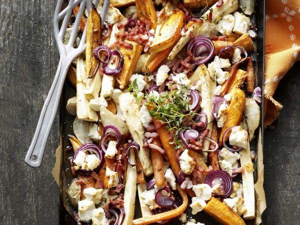 Vergeten groenten met feta en spekjes - Libelle Lekker!