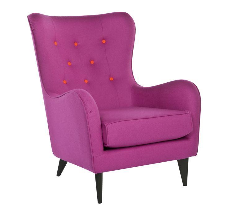 Celine Buttoned Pink Armchair #BHS #BHSCuriosity #furniture  sc 1 st  Pinterest & 21 best Vintage Curiosity images on Pinterest   Bhs Visual ...