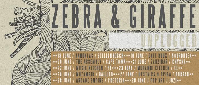 Zebra & Giraffe, South Africa, Unplugged, Cape Town, Capetowners, Music, Live, Rock n Roll, Alternative