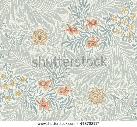 Современный цветочный бесшовные модели для вашего дизайна.  Печать на бумаге или ткани.  Векторная иллюстрация.  Задний план.