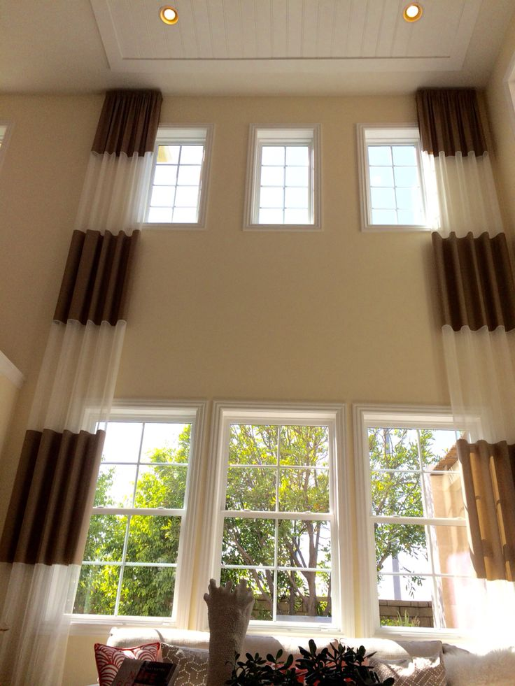 246 best 2 story window treatments images on pinterest for Blinds for tall windows