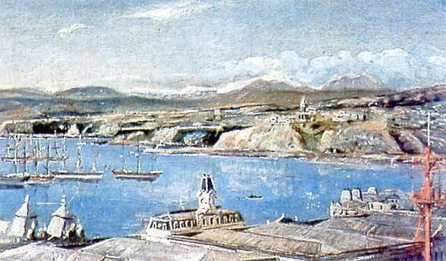 """Valparaiso"", 1895, obra de Alberto Valenzuela LLanos 1869 -1925"