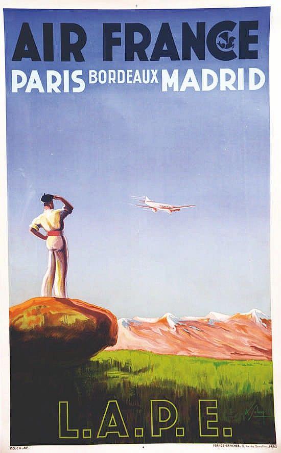 SOLON LAPE Paris Bordeaux Madrid vers 1930