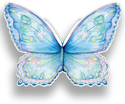 Blue Butterfly. This wraparound, die-cut card features half of the butterfly as the front, and half as the back. A similar card is available in pink. Buy any 10 cards for £14, shop now: http://tinyurl.com/jdugthp