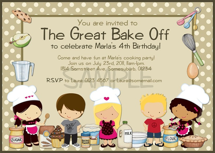 19 best fundraising images on pinterest chili cook off the great bake off printable birthday invitation cooking party diy printing 1600 yadclub Gallery