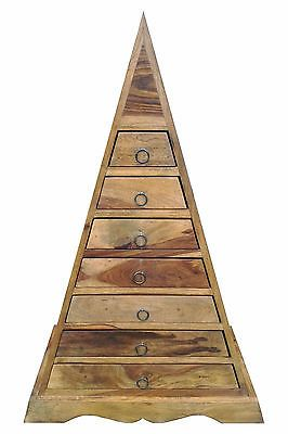 Jali 7 #drawer #pyramid chest of ##drawers/ real sheesham wood furniture,  View more on the LINK: http://www.zeppy.io/product/gb/2/291542935118/