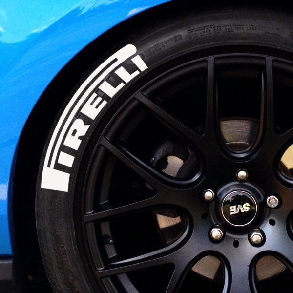 PIRELLI Tire Lettering (Set of 4)