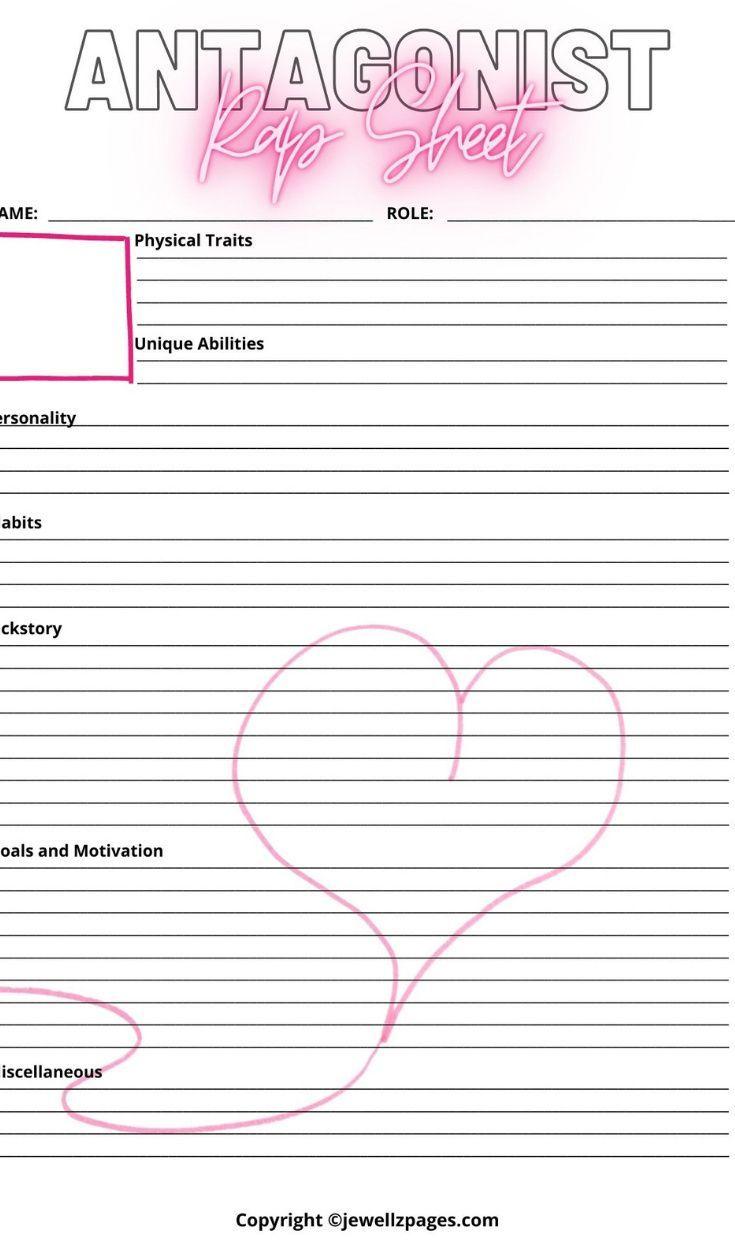 Romance Book Planner Workbook Worksheets Nanowrimo Etsy Planner Writing Author Planner Planner Book