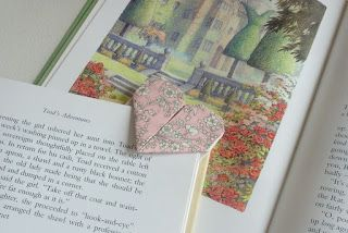 Stitching Notes: Tutorial: Origami Love Heart Bookmark
