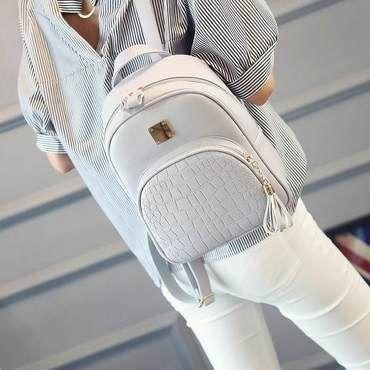 71914003ca Backpacks Woman 2018 Mini Leather Backpack Female Solid Color Bookbag  Mochilaintothea