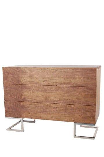 PANGEA/home  Tyler Three-Drawer Dresser - Walnut