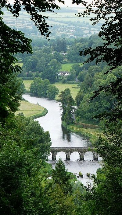 The River Nore at Inistioge, County Kilkenny, Ireland.